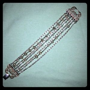 Jewelry - Vintage style multi-strand Bead and chain bracelet